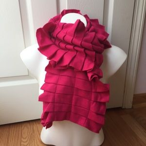 Magenta woven luxe warm scarf!